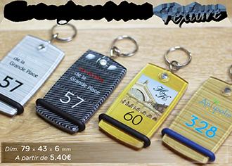 Porte-clés Mini créoglass Texture