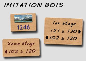 Signalétique Imitation bois