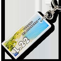 Porte clé pour camping - 7 x 3 cm