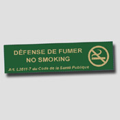 Lot de 5 non fumeur 20cm x 5cm Vert