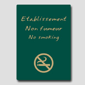 Non fumeur 32m x 25cm Vert