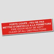 Ne pas mettre d'obstacle à la fermeture - FR-EN