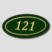 Numéro de porte ovale