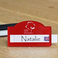 Badge avec logo personnalisé aimanté