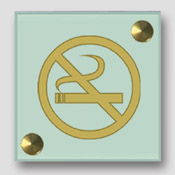 Plaque non fumeur imitation verre