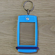 Porte-clés Mini Créoglass Color Bleu Ciel X10