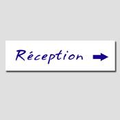 Plaque Réception + frèche