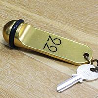 Porte clé boule aluminium or recto