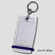 Porte clé Mini-Créoglass joint bleu