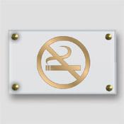 Plaque non fumeur plaxiglas