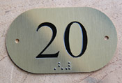 Numéro de porte laiton + braille