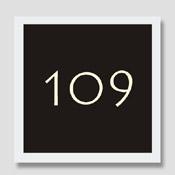 Numéro de porte 120 X 120 X 3