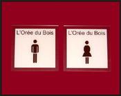 Plaque toilettes hommes et femmes