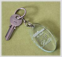 Porte clé hôtel PMR - marquage braille