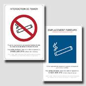 Lot de 5 decrets non fumeur PLEXI 2mm