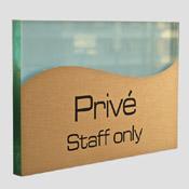 Plaque privé