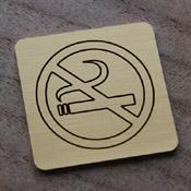 Plaque laiton non fumeur