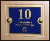 Signalétique numéro de porte non fumeur