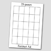 Lot de 4 pages étiquettes Mini-Créoglass