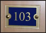 Signalétique numéro de porte