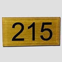 Numéro de table plexiglas Or