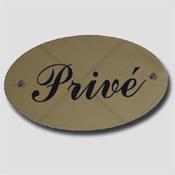 Plaque laiton privé