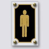 Plaque Toilettes Homme