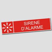 Plaque Sirène Alarme
