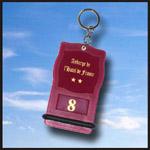 Porte clé créopillo bordeaux