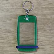 Porte-clés Mini Créoglass Color Vert Translucide X10