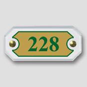 Numéro de porte octogonale