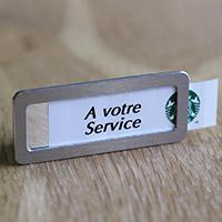 Badge à glissière aimanté fixation aimant