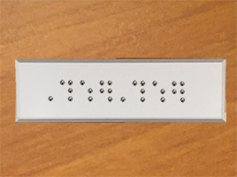 Plaque signalétique braille
