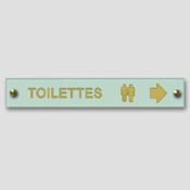 Simple directionnelle toilettes