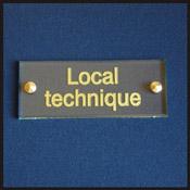 Plaque gravé local technique