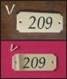 Numéro de porte laiton 1