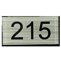 Numéro de table plexiglass Argent