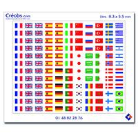 Stickers drapeaux pour badge