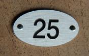 Numéro de table aluminium Brossé