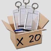 B. Boite de 20 porte-clés Minicréoglass