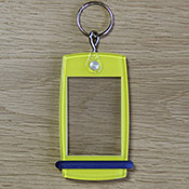 Porte-clés Mini Créoglass Color Jaune X10