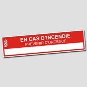 Plaque  En cas d'urgence