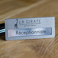 Badge Aluminium Brossé - Fixation Aimant