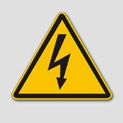 Plaque signalétique électricité