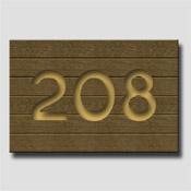Plaque de porte imitation plaque de bois