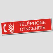 Plaque Téléphone d'incendie