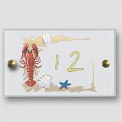Numéro de porte crabe