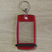 Porte-clés Mini Créoglass Color Rouge Translucide X10