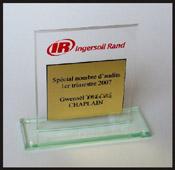 Trophée récompense en plexiglas