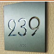 Numéro de porte Miroir Aluminium